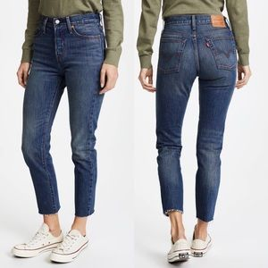 Levi's Wedgie Icon White Oak High Rise Jeans 27